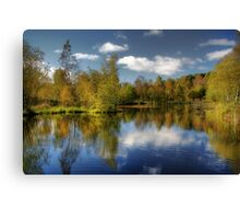 Queen Elizabeth Pond Reflections Canvas Print