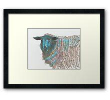Black Sheep Illustration Framed Print
