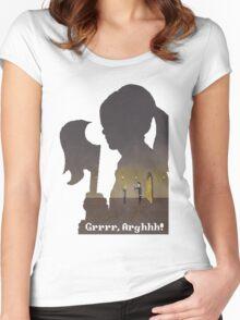 Pixel Buffy kills Angel Women's Fitted Scoop T-Shirt