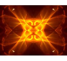 Red Hot Kaleidoscope Flame Photographic Print