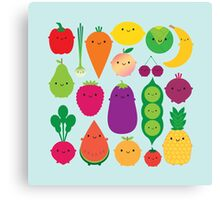 5 A Day Fruit & Vegetables Canvas Print