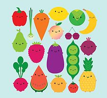 5 A Day Fruit & Vegetables by marcelinesmith