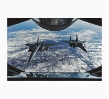 F-15E Strike Eagles wait to receive fuel from a KC-135R Stratotanker T-Shirt