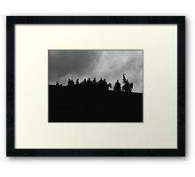 Riding Framed Print