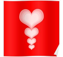 Valentine's Day Red Hearts  Poster