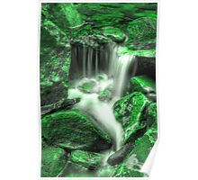 Flowing - Green Poster