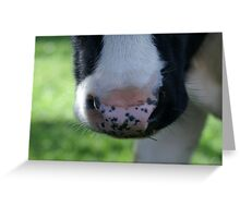 freckled nose Greeting Card