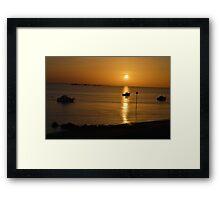 Winter Sunset On the Beach Framed Print