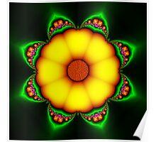 Solar Flowered Poster