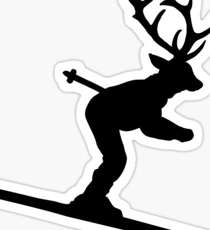 Ski Stag (Deer) Sticker