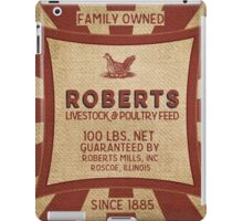 Vintage Feed And Seed Sack Chicken Burlap iPad Case/Skin