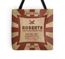 Vintage Feed And Seed Sack Chicken Burlap Tote Bag