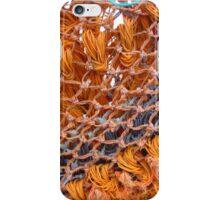 ORANGE FISHING NET iPhone Case/Skin