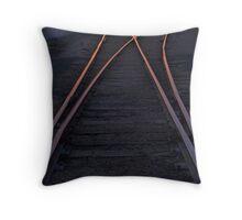 Vanishing Rails Throw Pillow