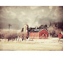 Sioux City Barn & Silo Photographic Print