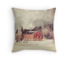 Sioux City Barn & Silo Throw Pillow