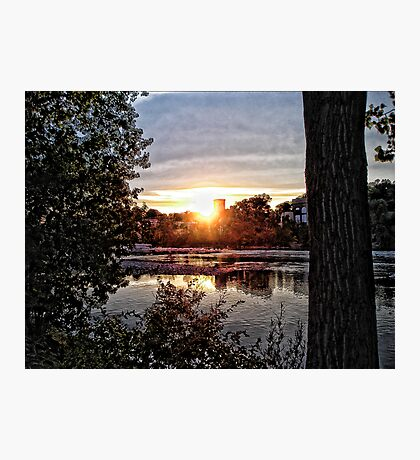 Sunset On The Fox III Photographic Print