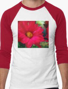 Red Daisies Men's Baseball ¾ T-Shirt