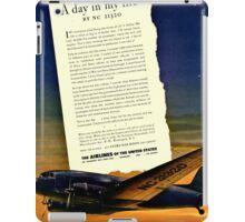 War Bonds Airline Poster - WW2 Propaganda Poster  - World War II / World War 2 iPad Case/Skin
