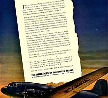 War Bonds Airline Poster - WW2 Propaganda Poster  - World War II / World War 2 by verypeculiar