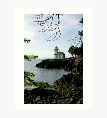 Lime Kiln Lighthouse Art Print