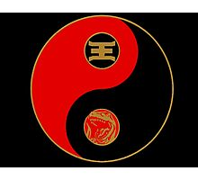 Jason's Ranger Power Yin Yang Photographic Print