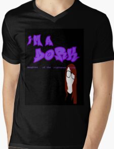 I'm a D.O.R.K. (black) Mens V-Neck T-Shirt