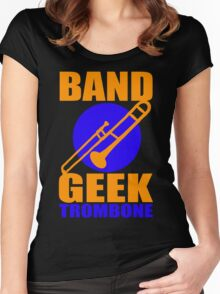 BAND GEEKS RULE-TROMBONE Women's Fitted Scoop T-Shirt