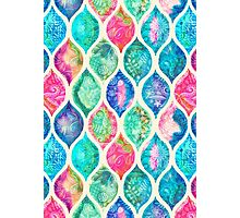 Watercolor Ogee Patchwork Pattern Photographic Print