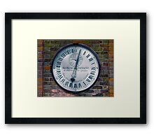 The Shepherd Gate Clock Framed Print