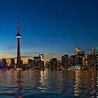 Toronto Skyline at dusk by Henry Jager