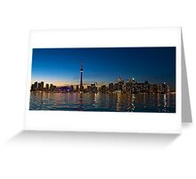 Toronto Skyline at dusk Greeting Card