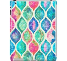 Watercolor Ogee Patchwork Pattern iPad Case/Skin