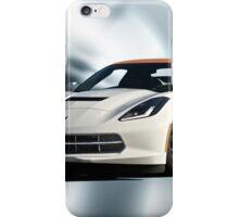 2014 Corvette Convertible 'Studio Blue' iPhone Case/Skin