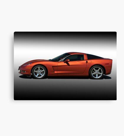 2005 Corvette Coupe Studio Profile Canvas Print