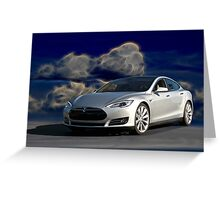 2014 Tesla Model S 'Sports Sedan' Greeting Card