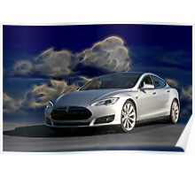2014 Tesla Model S 'Sports Sedan' Poster