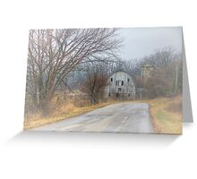 Down A Country Road Greeting Card