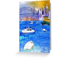 Harbour in Summer Greeting Card