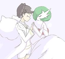 Champion Diantha and Mega Gardevoir by gizorge