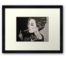 Smoking Lady  Framed Print