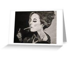 Smoking Lady  Greeting Card