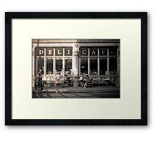 Deli lifestyle Framed Print