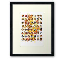 Pokemon - Fire invasion (White background) Framed Print
