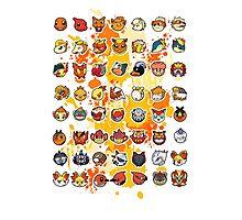 Pokemon - Fire invasion (White background) Photographic Print