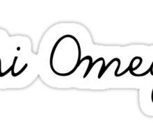 Chi Omega Girly Script Sticker
