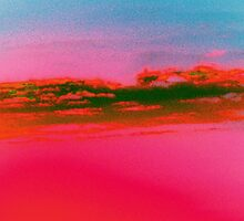 Deep Red Sky-Available As Art Prints-Mugs,Cases,Duvets,T Shirts,Stickers,etc by Robert Burns