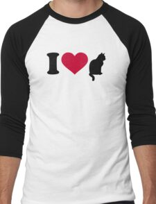 I love cats Men's Baseball ¾ T-Shirt