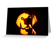 Jack O'Lantern in the Dark Greeting Card