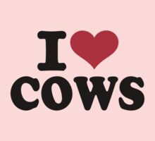 I love cows One Piece - Long Sleeve
